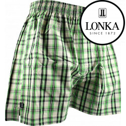Pánské trenky Lonka zelené (Stripes 01)