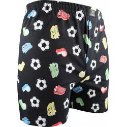 Pánské trenky Lonka černé (Karlos - fotbal)
