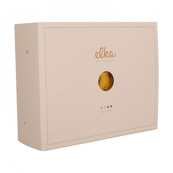 Pánské trenky ELKA bílé s puntíky (P0038)