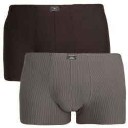 2PACK pánské boxerky S.Oliver tmavě šedé nadrozměr (26.899.97.4502.15C6)
