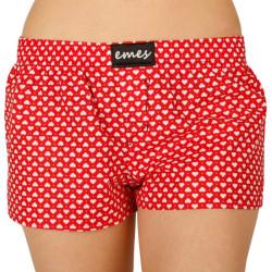Dámské trenky Emes červené se srdíčky (027)
