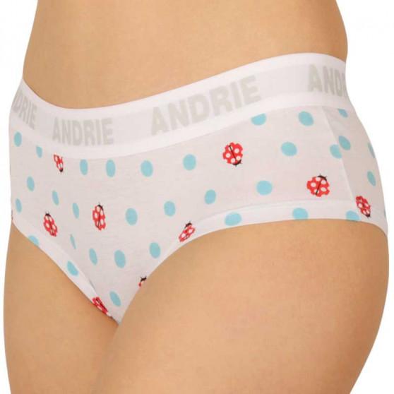 Dámské kalhotky Andrie bílé s puntíky (PS 2408 C)