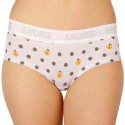 Dámské kalhotky Andrie bílé s puntíky (PS 2408 B)