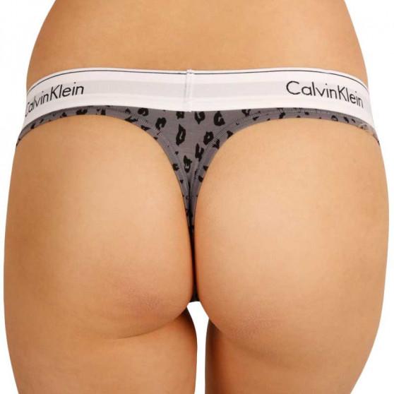 Dámská tanga Calvin Klein šedá (F3786E JN7)