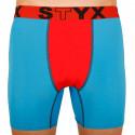 Pánské funkční boxerky Styx modré s červenou gumou (W961)