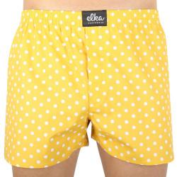 Pánské trenýrky ELKA žlutý puntík (P0037)
