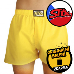 Pánské trenky Styx art klasická guma donuty žluté