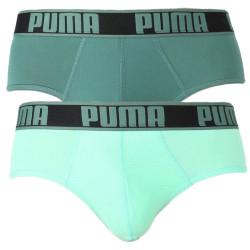 2PACK pánské slipy Puma sportovní zelená (671021001 004)