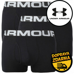 3PACK pánské boxerky Under Armour nadrozměr černé (1363616 001)