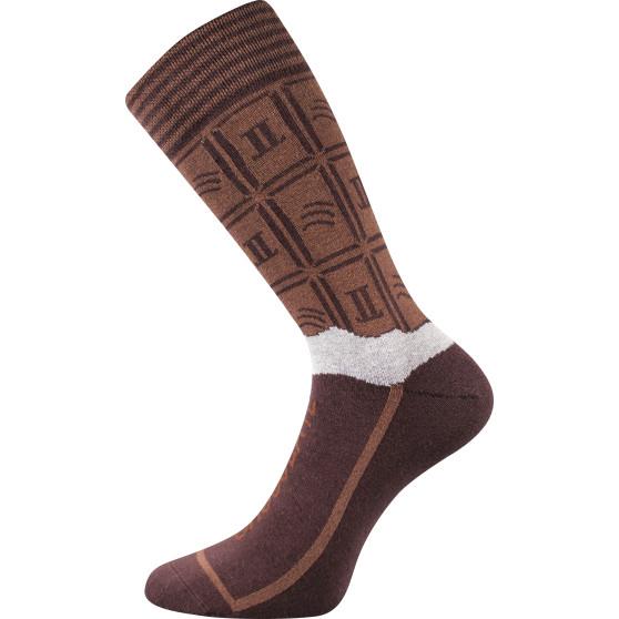 Pánské veselé ponožky Lonka hnědé (Chocolate milk pánské)