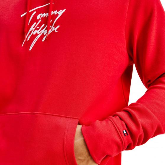 Pánská mikina Tommy Hilfiger červená (UM0UM02191 XLG)
