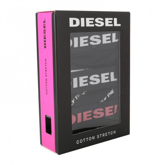 3PACK dámská tanga Diesel černá (00SE0K-0DCAG-E4101)