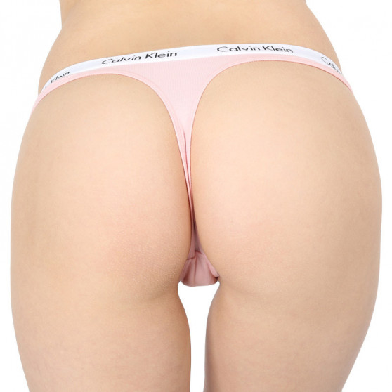 3PACK dámská tanga Calvin Klein vícebarevné (QD3587E-JMO)