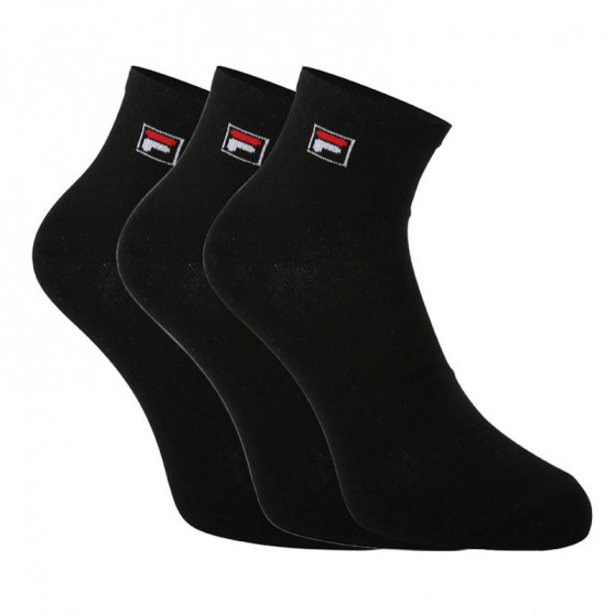 3PACK ponožky Fila černé (F9303-200)
