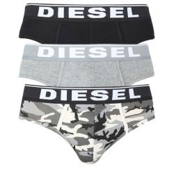 3PACK pánské slipy Diesel vícebarevné (00SH05-0WBAE-E5359)