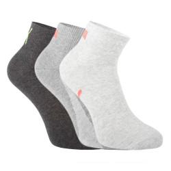 3PACK ponožky Puma šedé (100000957 005)