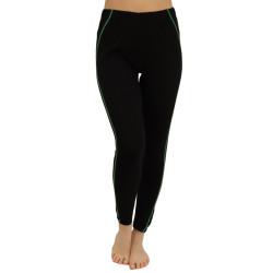 Dámské legíny VoXX černé se zeleným pruhem (1149--)