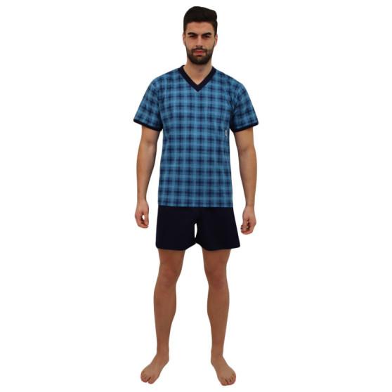 Pánské pyžamo Lonka petrolejové (vzor 96)