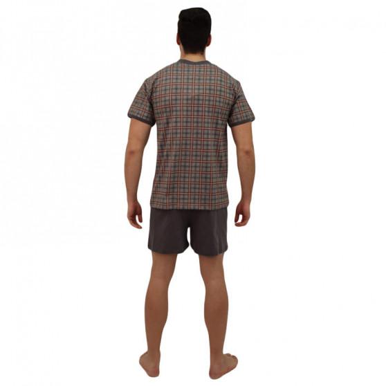Pánské pyžamo Lonka šedé (vzor 97)
