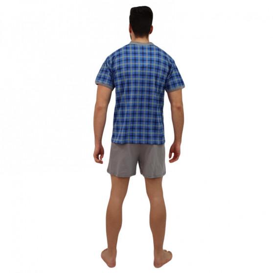 Pánské pyžamo Lonka modré (vzor 98)