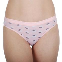 Dámské kalhotky brazilky CK ONE růžové (QD3797E-J72)