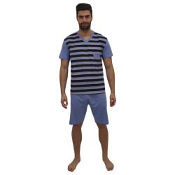 Pánské pyžamo Foltýn modré (FPK12)