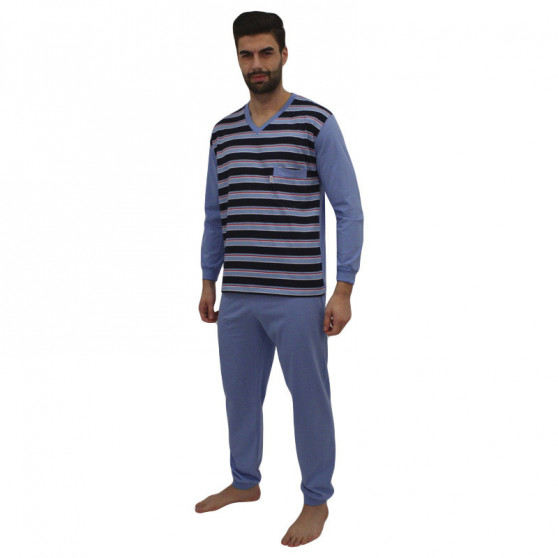 Pánské pyžamo Foltýn modré (FPD8)