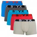 5PACK pánské boxerky Styx sportovní guma vícebarevné (G96769626364)