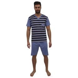 Pánské pyžamo Foltýn nadrozměr modré (FPKN12)
