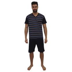 Pánské pyžamo Foltýn nadrozměr tmavě modré (FPKN9)