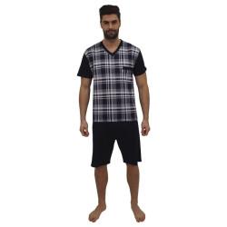 Pánské pyžamo Foltýn nadrozměr modré (FPKN10)