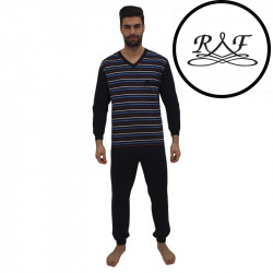 Pánské pyžamo Foltýn nadrozměr modré (FPDN5)