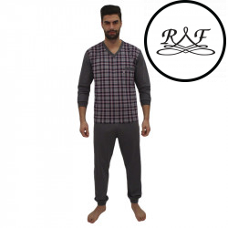 Pánské pyžamo Foltýn nadrozměr vícebarevné (FPDN7)