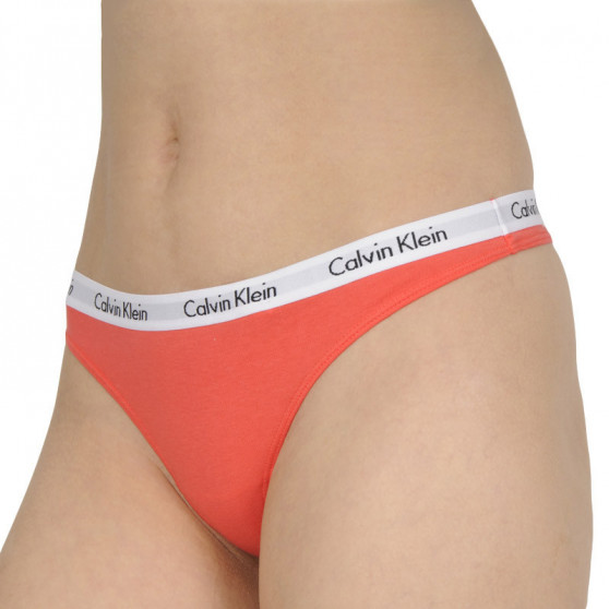 3PACK dámská tanga Calvin Klein vícebarevné (QD3587E-T7V)