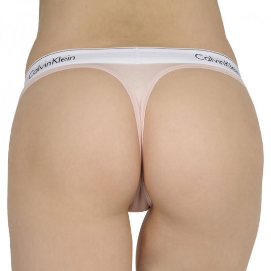 Dámská tanga Calvin Klein růžové (F3786E-2NT)