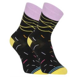 Veselé ponožky Dots Socks černé (DTS-SX-470-C)