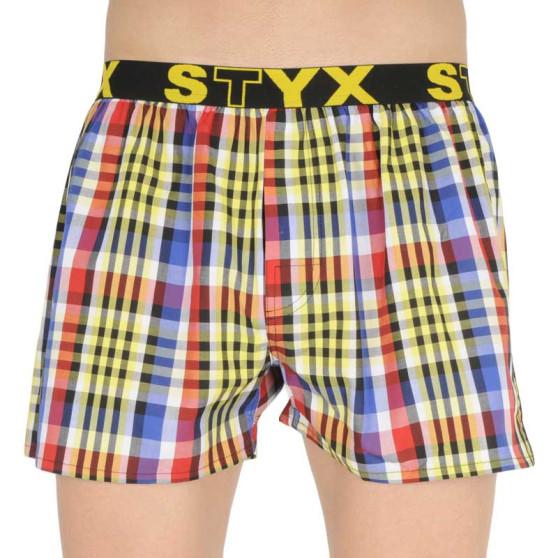 Pánské trenky Styx sportovní guma vícebarevné (B833)