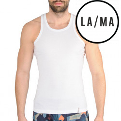 Pánské tílko Lama bílé (M-4002 TT01)