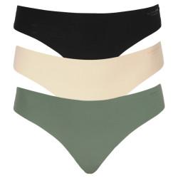 3PACK dámská tanga Bjorn Borg vícebarevné (2111-1242-81461)