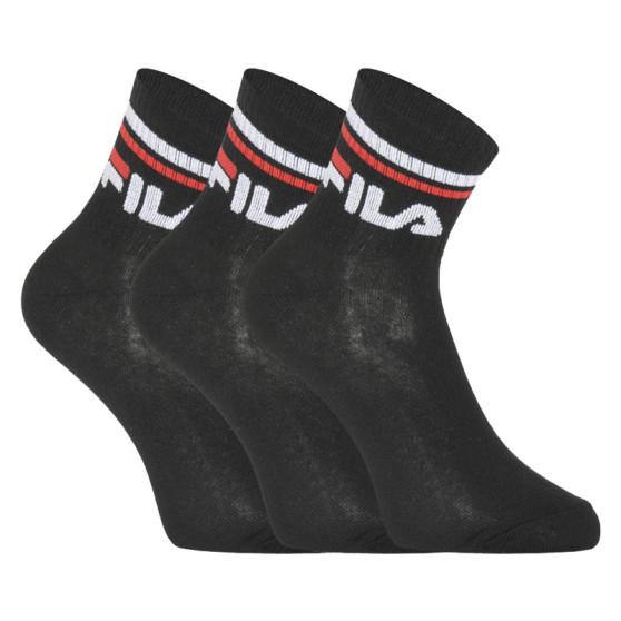3PACK ponožky Fila černé (F9398-200)