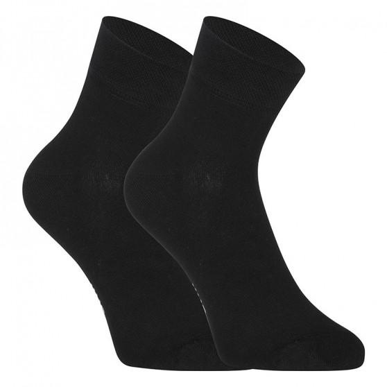 3PACK ponožky Styx kotníkové bambusové černé (3HBK960)