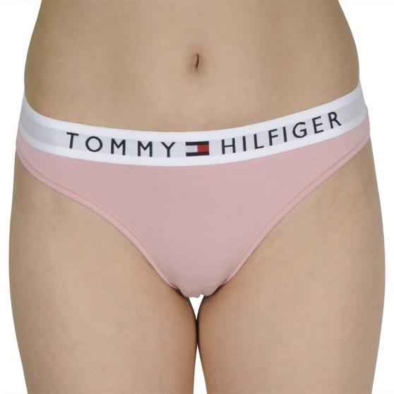 Dámská tanga Tommy Hilfiger růžové (UW0UW01555 TMJ)
