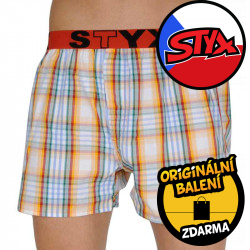 Pánské trenky Styx sportovní guma vícebarevné (B105)
