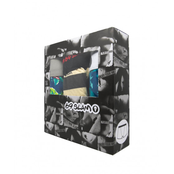 3PACK pánské boxerky 69SLAM fit bamboo mix (PACGCL-BB)