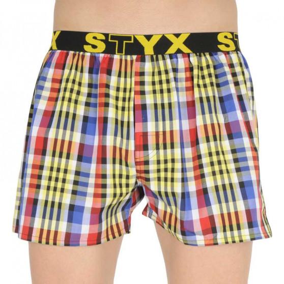 5PACK pánské trenky Styx sportovní guma vícebarevné (B83233343539)