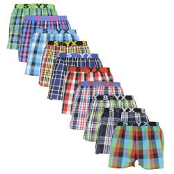 10PACK pánské trenky Styx sportovní guma vícebarevné (B8313234567890)