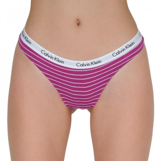 3PACK dámská tanga Calvin Klein vícebarevné (QD3587E-JMR)