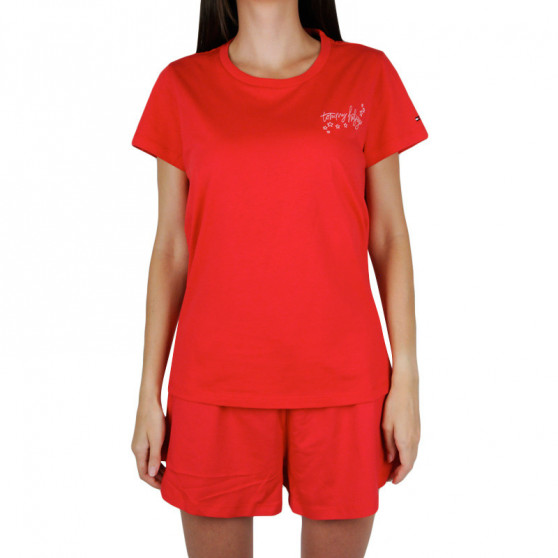 Dámské pyžamo Tommy Hilfiger červené (UW0UW02977 0WD)