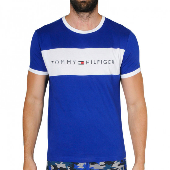 Pánské tričko Tommy Hilfiger modré (UM0UM01170 C86)