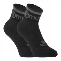 3PACK ponožky Meatfly černé (Middle Black)